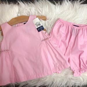 🎀Ralph Lauren pink tunic + short set